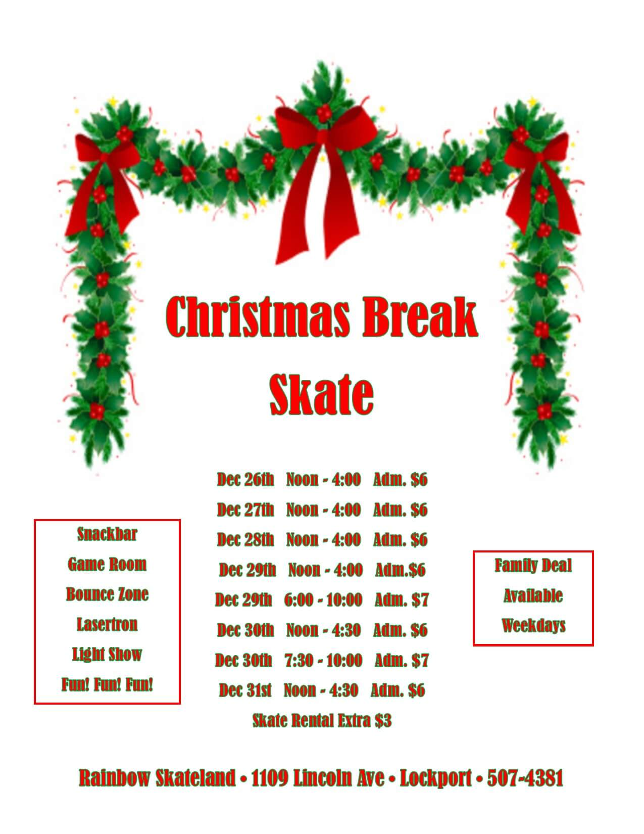 Christmas break skate