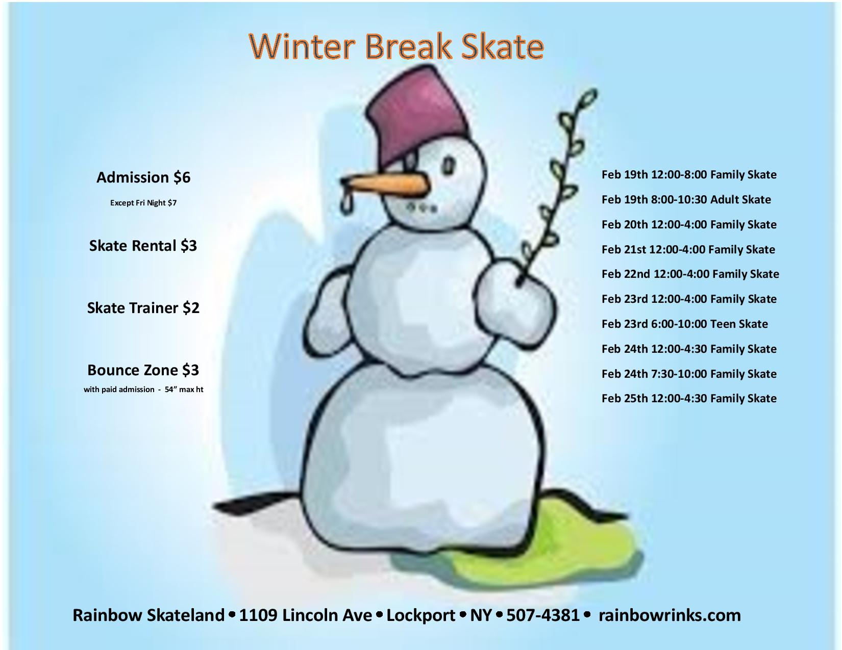 Winter Break Skate - Rainbow Skateland