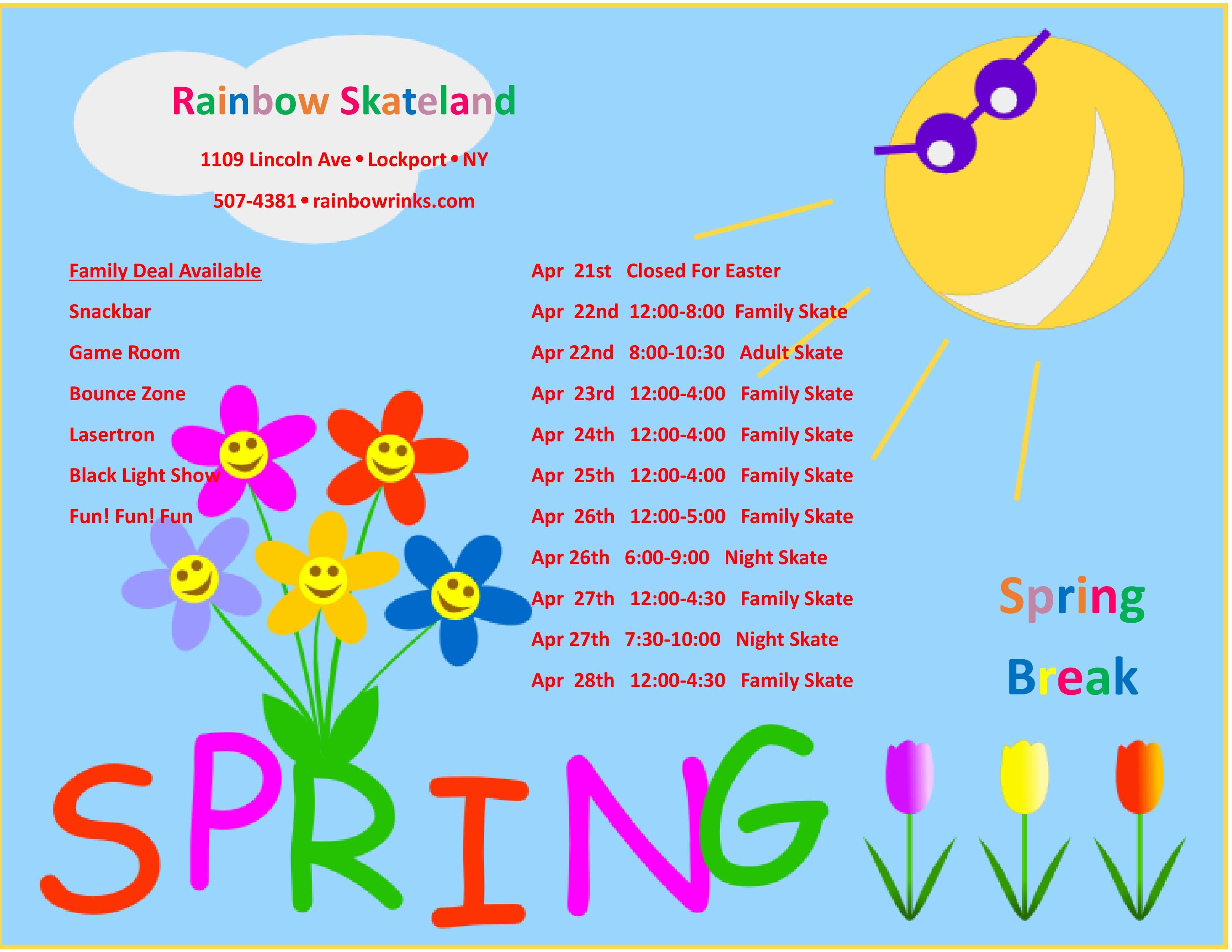 spring break-skateland