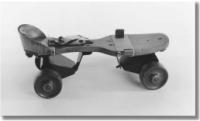 old-timey roller skate