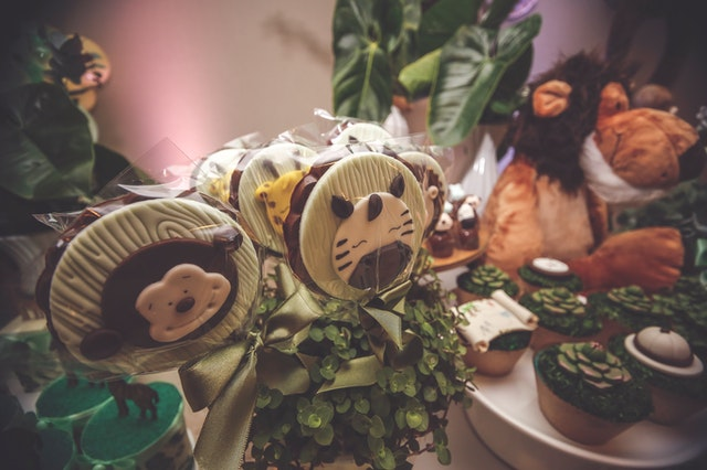 Jungle themed birthday party favors